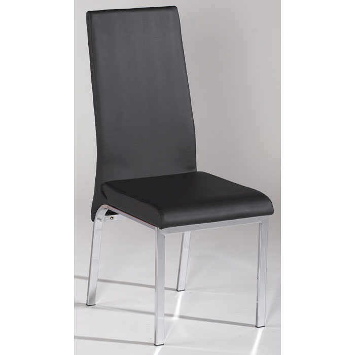 Gloria Black Upholstered Side Chair