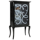 Hana Black Curio with Crocodile Pattern