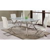 Jade Contemporary Dining Set with Glass Top Table