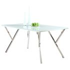 Jade White Glass Top Dining Table