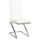 Jade Side Chair - White, Faux Leather (Set of 4)
