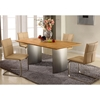 Jessica 5 Piece Contemporary Dining Set - Khaki Chairs