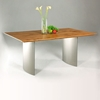 Jessica Contemporary Dining Table - Matte Light Oak Top
