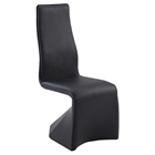 Joan Contour Back Side Chair - Faux Leather, Black (Set of 2)