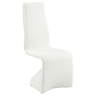 Joan Contour Back Side Chair - Faux Leather, White (Set of 2)