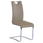 Josephine Side Chair - Faux Leather, Handle Back, Taupe (Set of 4)