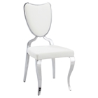 Lacey Side Chair - Heart Back, Cabriole Legs, White (Set of 2)