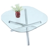 Leatrice Square Dining Table - Glass Top, Chrome Base