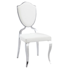 Letty Side Chair - Shield Back, Cabriole Legs, White (Set of 2)