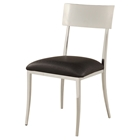 Lindsay Side Chair - Faux Leather, Open Back, Black (Set of 4)