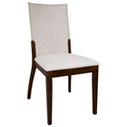 Luisa Side Chair - Cream Upholstery, Dark Walnut Legs