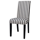 Mandy Parson Side Chair - Upholstered, Black and White (Set of 2)