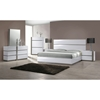 Manila 4 Pieces Bedroom Set - High Gloss White and Gray