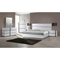 Manila Platform Bed - High Gloss White and Gray - CI-MANILA-BED