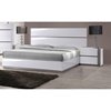 Manila Platform Bed - High Gloss White and Gray