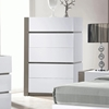 Manila Contemporary Bedroom Chest - Glossy White, 5 Drawers
