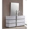 Manila 4 Pieces Bedroom Set - High Gloss White and Gray - CI-MANILA-4PC-BED-SET