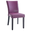 Michelle Parsons Chair - Bonded Leather, Purple (Set of 2)