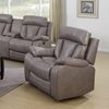 Modesto Reclining Leather Air Chair - Gray