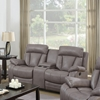 Modesto Reclining Leather Air Loveseat - Gray