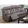 Modesto Reclining Leather Air Sofa - Gray