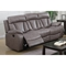Modesto Reclining Leather Air Sofa - Gray - CI-MODESTO-SFA-GRY