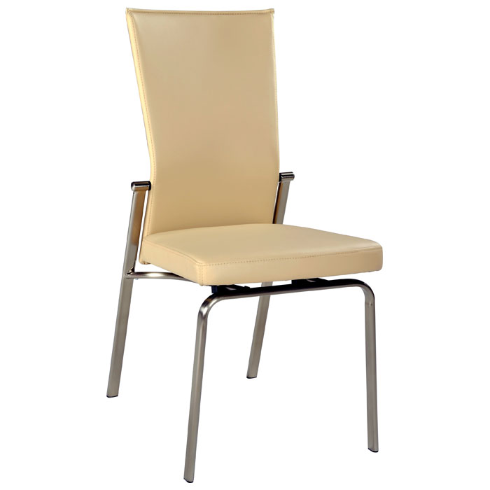 Jessica 5 Piece Contemporary Dining Set - Beige Chairs - CI-JESSICA-MOLLY-SET