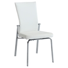 Molly Side Chair - Motion Back, White Faux Leather (Set of 2)