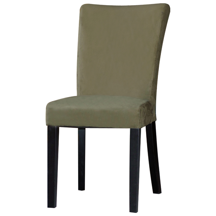 Monica Parsons Chair - Satin Black Legs, Green Microfiber