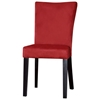 Monica Parsons Chair - Satin Black Legs, Red Microfiber
