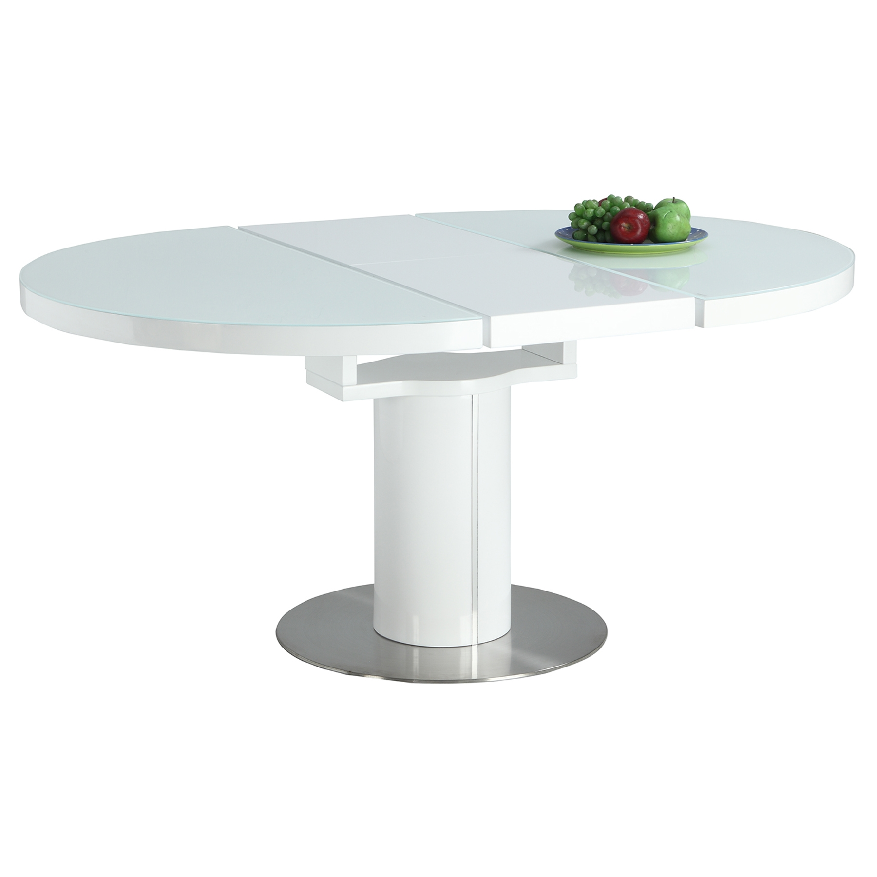 Nora Dining Table - Pedestal, Gloss White - CI-NORA-DT-WHT