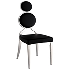 Oprah Contemporary Side Chair - Chrome, Black