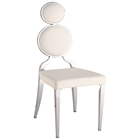 Oprah Contemporary Side Chair - Chrome, White