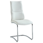 Piper Side Chair - Faux Leather, White (Set of 2)