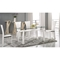 Ramona Dining Table - Clear Glass, White Base - CI-RAMONA-DT