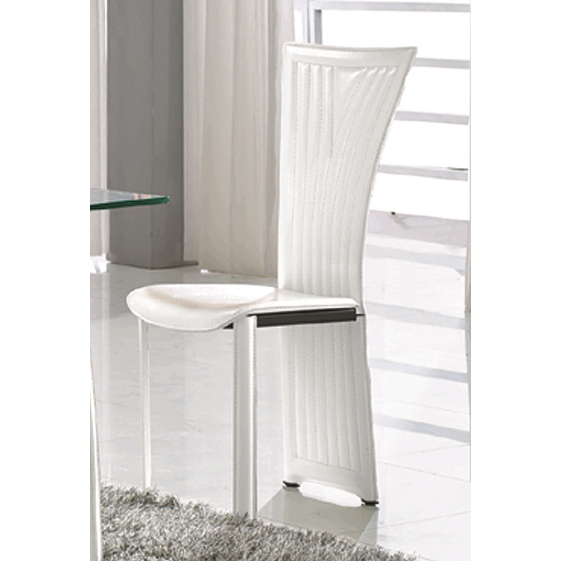 Ramona Side Chair - White, Fan Back - CI-RAMONA-SC