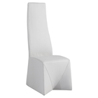 Riana Side Chair - High Back, Faux Leather, White (Set of 2)