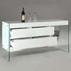 Sofia Buffet Table with Glass Side Panels
