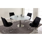 Tami 5 Piece Contemporary Dining Set - Expanding Table Top
