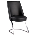 Tami Slight Concave Back Side Chair - Black, Chrome (Set of 2)