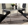 Tara Extending Dining Table - Rectangular Glass Top