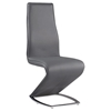 Tara High Back Side Chair - Chrome Base, Gray
