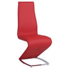 Tara Z-Shape Side Chair - Red (Set of 2)
