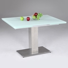 Tatiana Extending Dining Table - White Frosted Glass