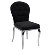 Teresa Arch Back Side Chair - Black, Button Tufted