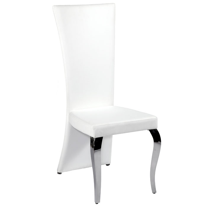 Teresa Flared Back Side Chair - White, Cabriole Legs