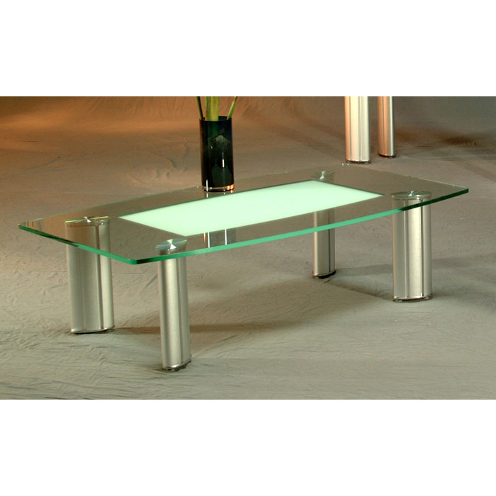 Tracy Boat-Shaped Glass Cocktail Table