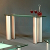 Tracy Half Boat-Shaped Glass Sofa Table