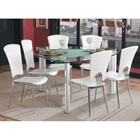 Tracy Triangle Glass Dining Set