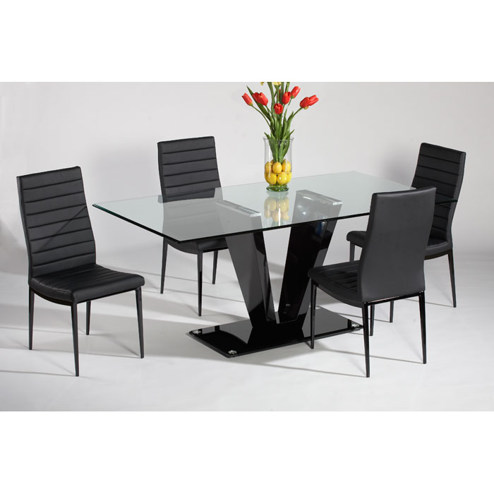 Victoria Black 5 Piece Dining Set